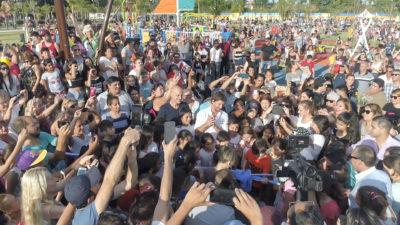 Juan Andreotti inauguró la ampliación del parque más grande de San Fernando