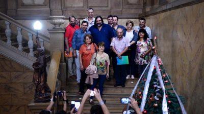 """Los gremios docentes volvieron a entrar a Gobernación después de 4 años de """"rejas y candados"""""""