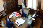El presidente Alberto Fernández recibió a Diego Maradona en la Casa Rosada