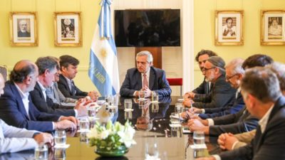 """Alberto Fernández recibió a la Mesa de Enlace y confirmó que las retenciones serán """"segmentadas"""""""