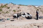 Bahía Blanca: encontraron a un hombre muerto en el baúl de un auto incendiado