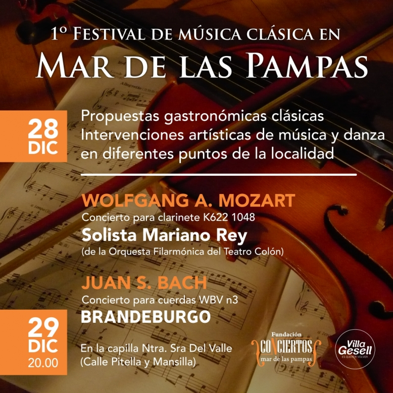 Villa Gesell: Se realizará el Primer Festival de Música Clásica en Mar de Las Pampas