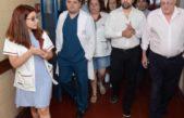 Kreplak visitó el Hospital Arturo Oñativia y prometió recuperar las instalaciones afectadas por un incendio