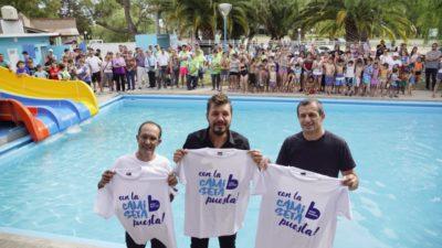 Bucca y Tinelli inauguraron un parque acuático en Bolivar y participaron de la 21ª maratón internacional Dino Hugo Tinelli