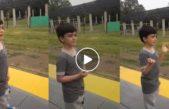 VIDEO: La gran emoción de Mateo, un nene ve llegar un tren a su pueblo por primera vez