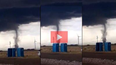 VIDEOS: filman el espectacular paso de tornado en Bahía Blanca
