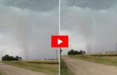 Video: vecino de Laprida registró el paso de un tornado