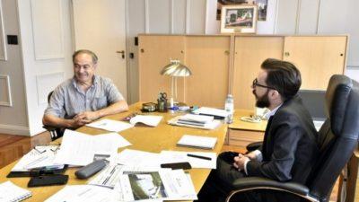 Tapalqué / Coconi se reunió con el ministro de Infraestructura Simone y pidió poder ampliar la red de agua y cloaca