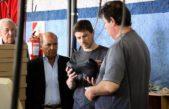 Augusto Costa visitó Suárez y junto a Moccero habló de reactivar la fábrica de zapatillas Dass