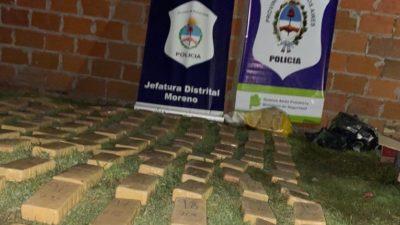 Gral Rodríguez / Incautan 90 kilos de marihuana en el barrio Pico Rojo