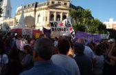 """Videos: Multitudinaria marcha por el """"emblemático"""" femicidio de Valentina Gallina en Olavarría"""