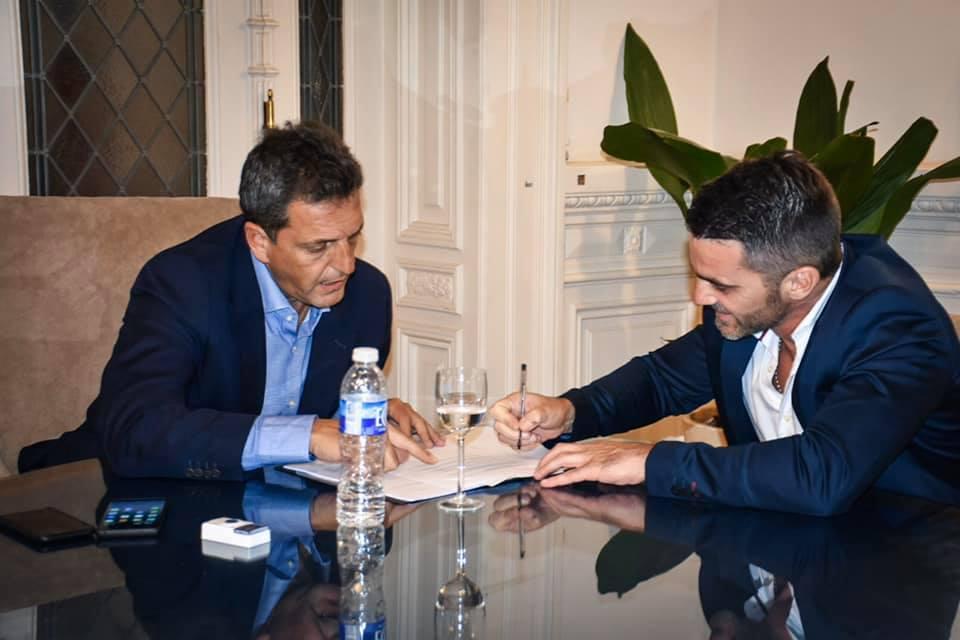 Castelli / Sebastián Echarren comenzó su gestión con reuniones con Massa, Arroyo y Raverta
