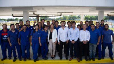 Malena Galmarini firmó un convenio para realizar obras de Agua y Cloacas en Pilar y San Fernando