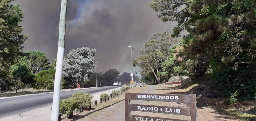 """""""El incendio está controlado"""", aseguró el intendente de Villa Gesell que agradeció la ayuda recibida"""