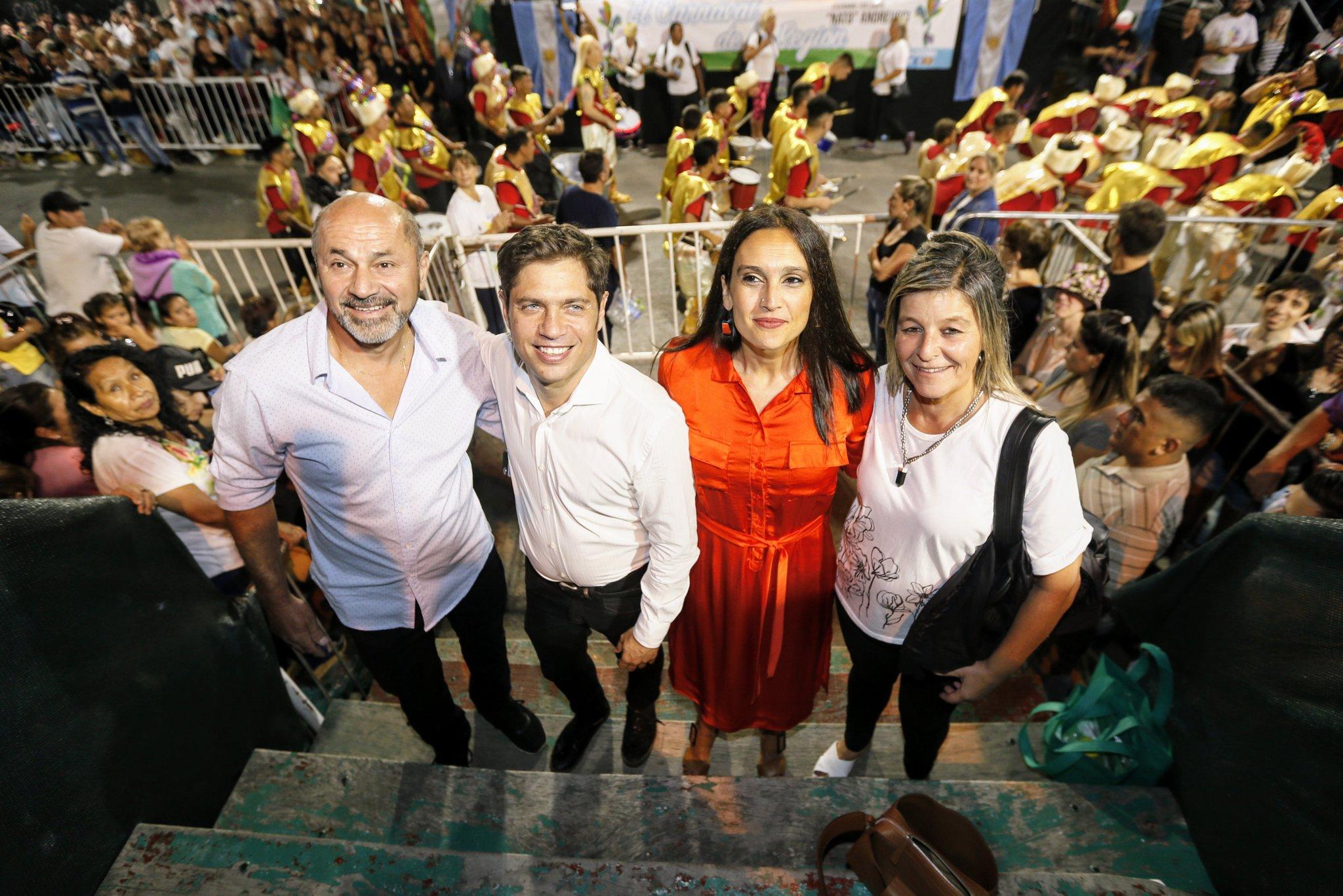 Axel Kicillof y su compañera se fueron a Ensenada para celebrar el Carnaval