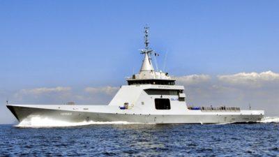 El gobierno presenta elnuevo patrullero oceánico que llega de Francia para vigilar el Mar Argentino