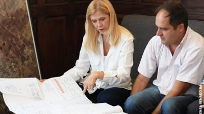 """Magario en Navarro anticipó que """"la inversión va a estar focalizada en la construcción de viviendas"""""""