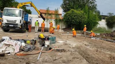 Comenzó la construcción del Hospital Modular de Emergencia en 3 de Febrero