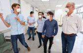 Kicillof, De Pedro y Ustarroz recorrieron el hospital Dubarry de Mercedes donde sumaron 10 camas de terapia intensiva
