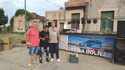 Con un festival reclamaron la vuelta del tren a Bolívar