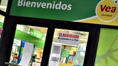 En La Plata clausuraron un supermercado de la cadena VEA por sobreprecios del 20%