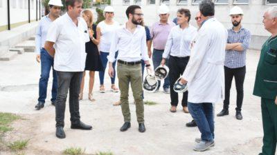 Simone visitó obras que estaban paradas en Hospitales y Kicillof solicitó reactivarlas ante la emergencia del coronavirus