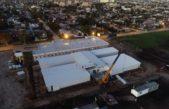 Construyen en tiempo récord el hospital modular de emergencia en Mar del Plata
