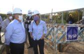 Malena Galmarini recorrió una obra que realizará AYSA en Ituzaingó y beneficiará a 200 mil vecinos