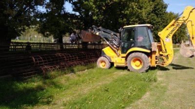 Hidráulica de provincia reinició la obra de un puente en el Río Salto que había demolido la gestión de Vidal