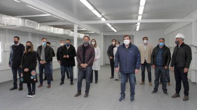 Katopodis y Raverta visitaron el nuevo Hospital Modular de Emergencia de Mar del Plata