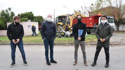 Insaurralde y Simone supervisaron obras de infraestructura y viales en Lomas de Zamora