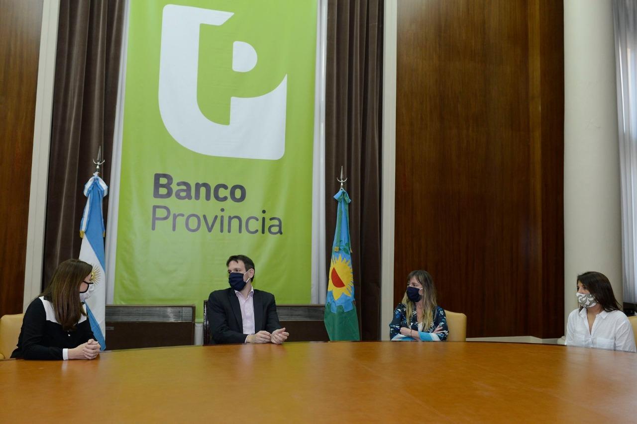 El presidente del Banco Provincia y la ministra de Mujeres firmaron un acuerdo para difundir políticas de Género