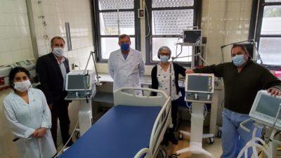 Salud ya entregó 490 respiradores nuevos en hospitales provinciales y municipales
