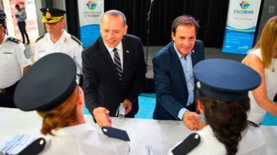 Berni estrena su esquema centralizado de la Policía Bonaerense en Escobar