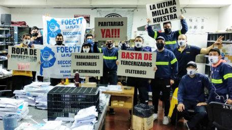 Correo Argentino: Protesta de telepostales por falta de convocatoria a paritarias
