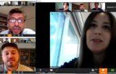 Vidal, Salvador, Siciliano y Sanchez Zinny hicieron un zoom con docentes y Consejeros Escolares de la provincia