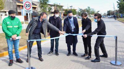 """Kicillof inauguró una obra en Merlo y aseguró: """"Estamos proyectando y comenzando a construir la pospandemia"""""""