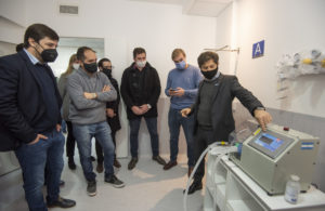 Kicillof revalorizó la obra del hospital respiratorio de Navarro que será exclusivo para infectados de Coronavirus
