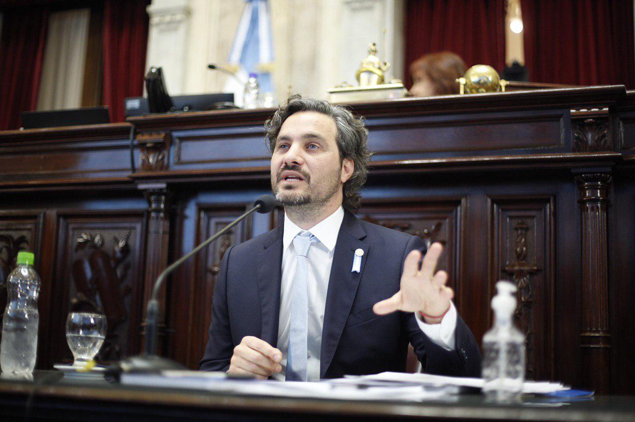 """Cafiero fue al Senado y expresó """"sin justicia social la democracia es impotente"""""""