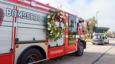 Berazategui despidió los restos del bomberos Firma Paz y decretó 3 días de duelo en su honor