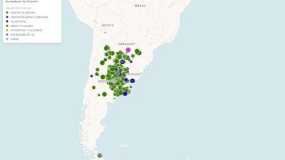Ingresá y conocé el mapa interactivo mundial de los 2368 acreedores de Vicentin