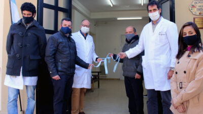 Moccero inauguró obras en el Hospital Municipal de Coronel Suárez y Kicillof estuvo presente por zoom