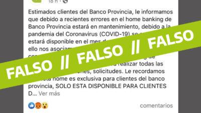 El Banco Provincia denunció una cuenta falsa que circula en las redes sociales
