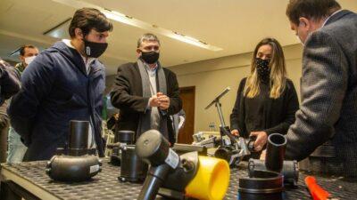 La titular de AYSA, Malena Galmarini recorrió las instalaciones del Grupo DEMA