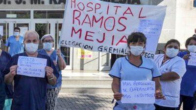 Protesta a nivel nacional de trabajadores de la Salud por deudas salariales