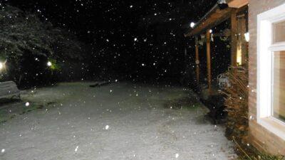 Nieve en la Provincia de Buenos Aires: fotos y videos de la nevada en Villa Ventana