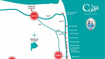 Los vecinos de General Lavalle y La Costa podrán moverse entre ambos distritos