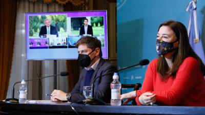 """Kicillof y Díaz participaron de la presentación del programa nacional """"Acompañar"""" contra la violencia de género"""