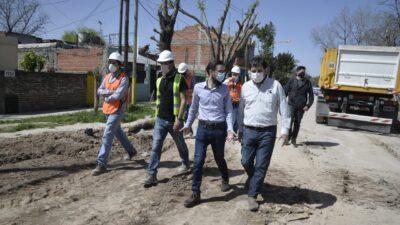 Simone recorrió obras en cuatro municipios del Gran Buenos Aires