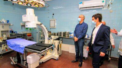 San Vicente / El intendente Nicolás Mantegazza y el ministro Daniel Gollán pusieron en valor la terapia intensiva del Hospital Ramón Carrillo